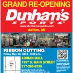 Dunham's Sports Grand Re-Opening in Adrian, Michigan